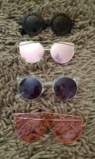 Quay, nasty gal, glow glam sunglasses