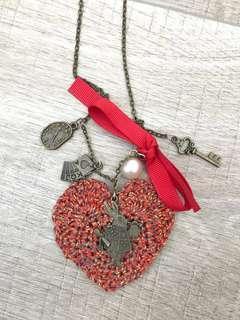 🚚 Handmade crochet Alice in Wonderland necklace