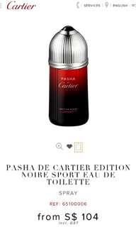 PASHA DE CARTIER EDITION NOIRE SPORT EAU DE TOILETTE