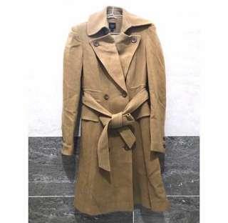 🚚 Iroo 駝色羊毛保暖長外套 大衣 30