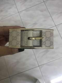🚚 Authentic Gucci Ivory White Belt Size 85cm
