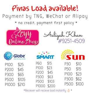 Pinas Load available!