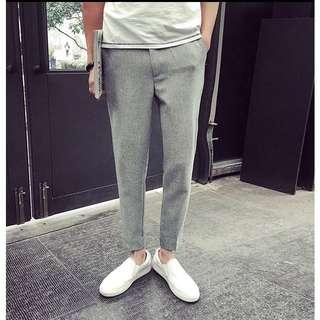 Gray Slim Pants