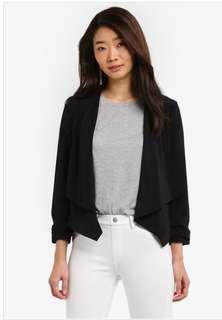Warehouse black waterfall jacket