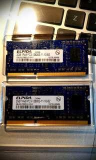 🚚 Apple macbook ram 2gb 2pieces replacement