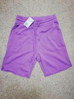 H&M Lilac Sweat Shorts