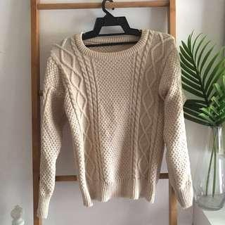 Knitted Jumper Nude Brown