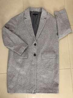 UNIQLO灰色絨長外套