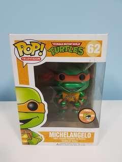 Funko Pop Michelangelo (Metallic) Comic Con Exclusive