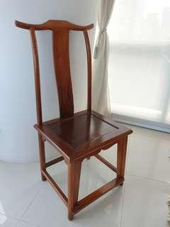 Antique chinese red chair/study chair