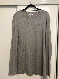 Helmut Lang Grey Long Sleeve Top XL