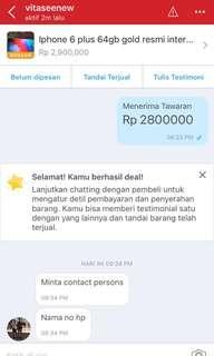 Sold iphone 6 plus 64gb gold