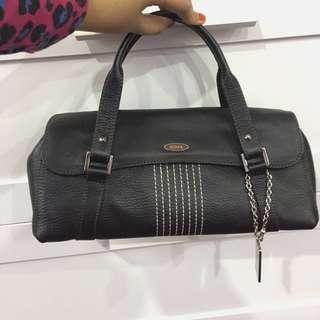 Bonia Leather Handbag Satchel Clutch