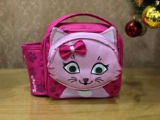 Pink Kitty Insulated Lunch Bag
