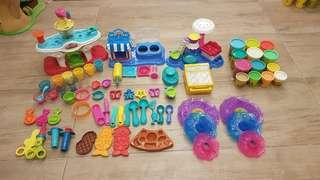 MEGA BUNDLE! Play Doh Authentic Baking Series, assorted playsets over 60 pcs!