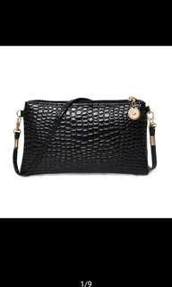 Korean mini snakeskin cute sling bag