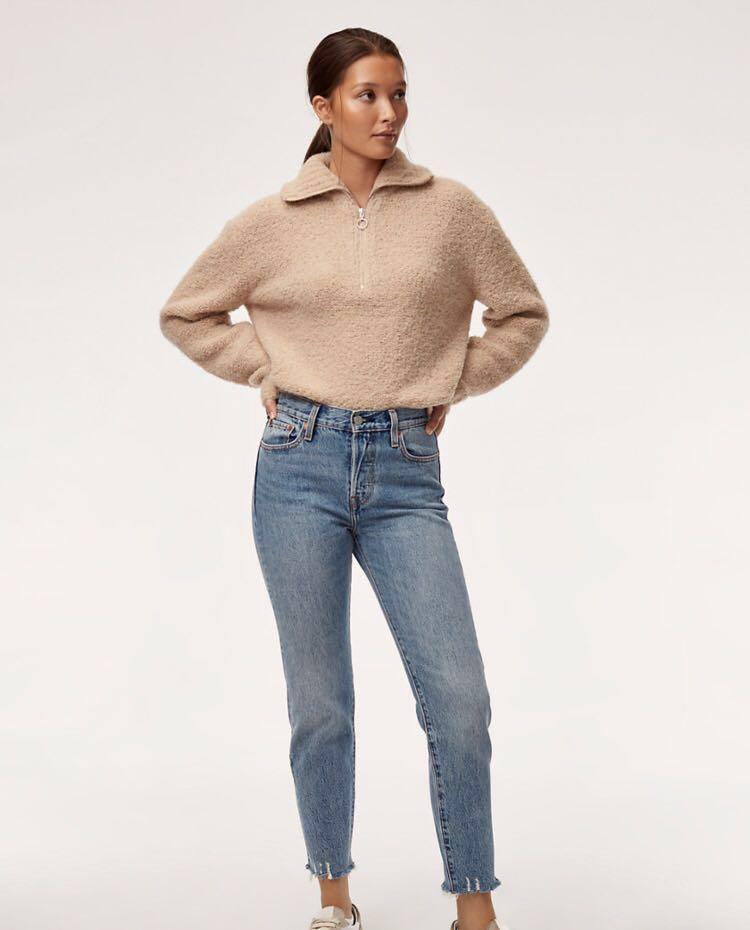 Aritzia Wilfred Free Fuzzy Gwyneth Sweater Size Small