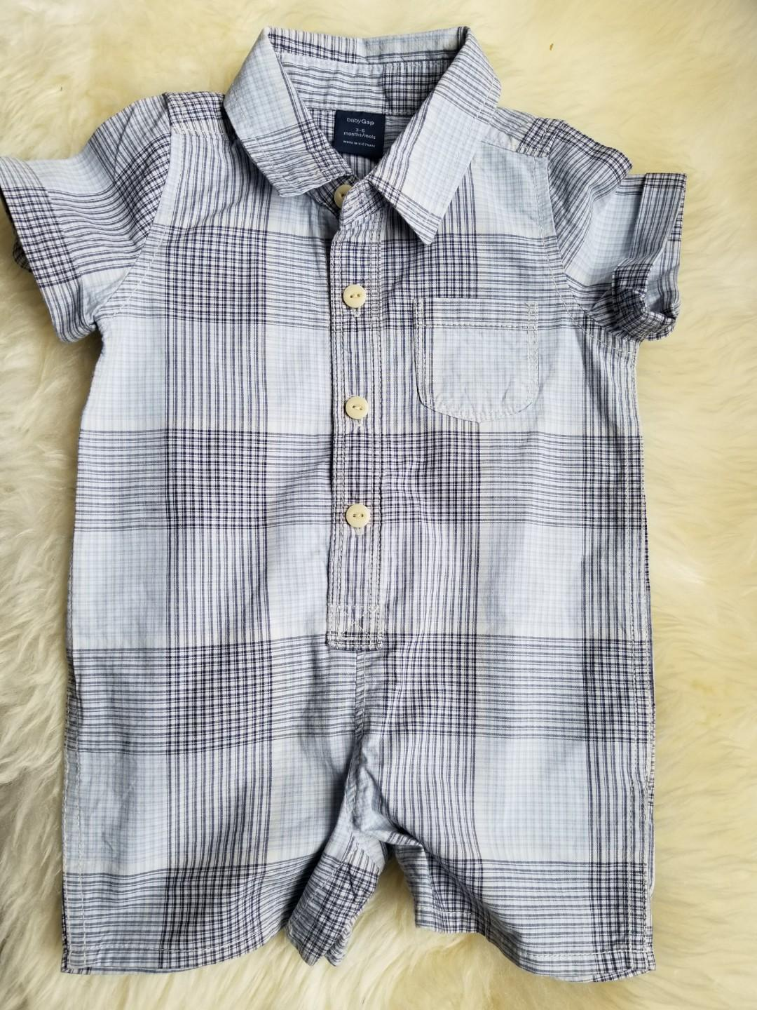 Baby Gap romper. New. No tags. Perfect for spring break. Size 3-6mths. We purchased new for $39. PU gerrard and main for $14 or $15 yorkville.