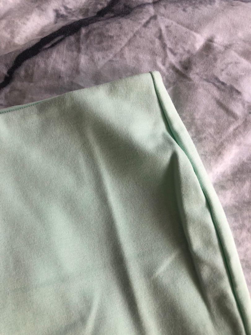Bardot Mint Midi Skirt