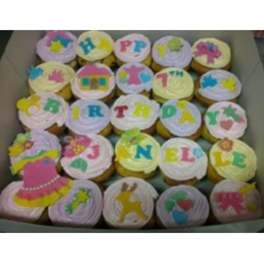 Phenomenal Birthday Cakes Muffins Brownies Popiah Party Set Food Drinks Funny Birthday Cards Online Eattedamsfinfo