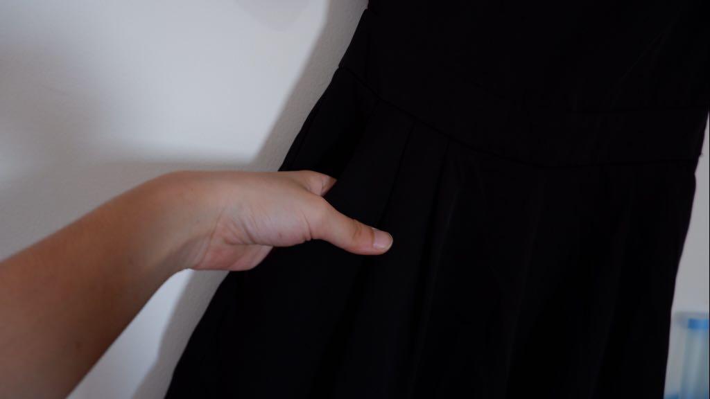 Black jumpsuit love bonito