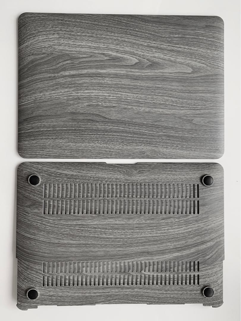 finest selection 9da1c 373aa BN! GMYLE Hard Case Print Frosted (Wood Grain Pattern) for Apple MacBook  Air 13