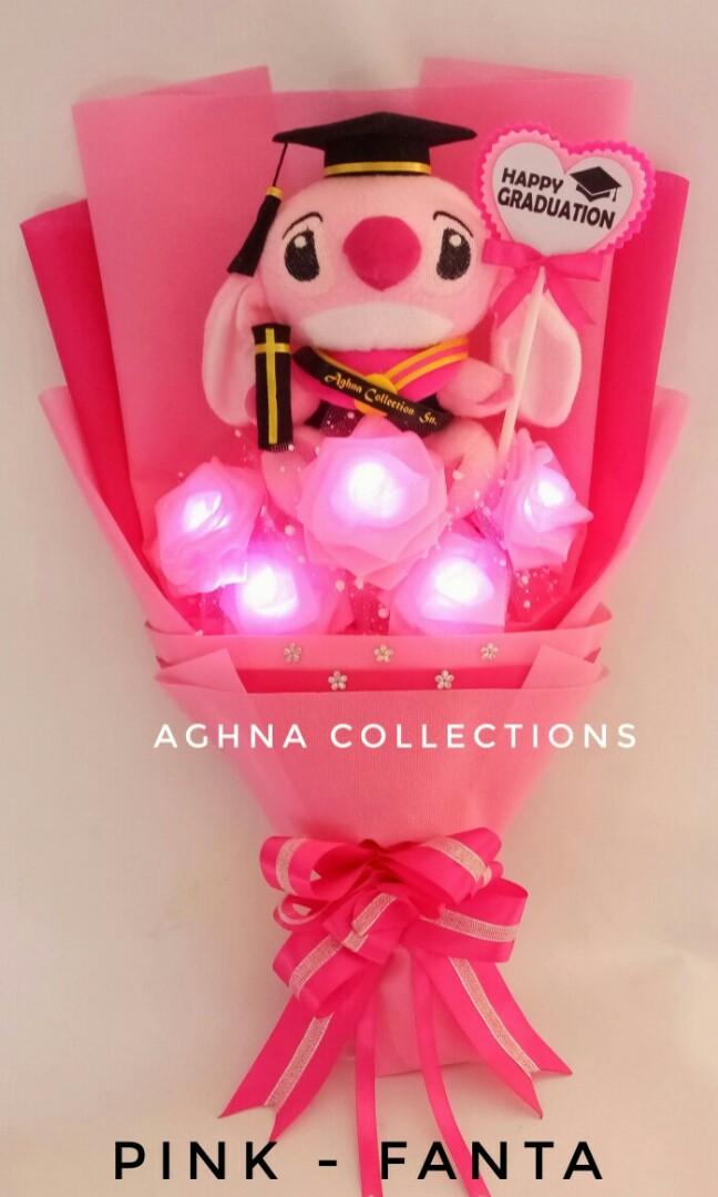 Bucket Bunga Mawar Boneka Stitch Lampu Led Desain Kerajinan Tangan Barang Aksesoris Kerajinan Di Carousell