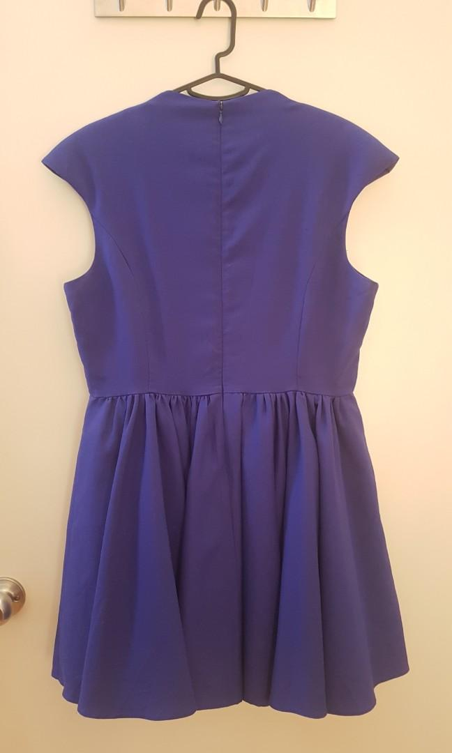 Cameo the Label C/meo Collective size 14 indigo cocktail dress