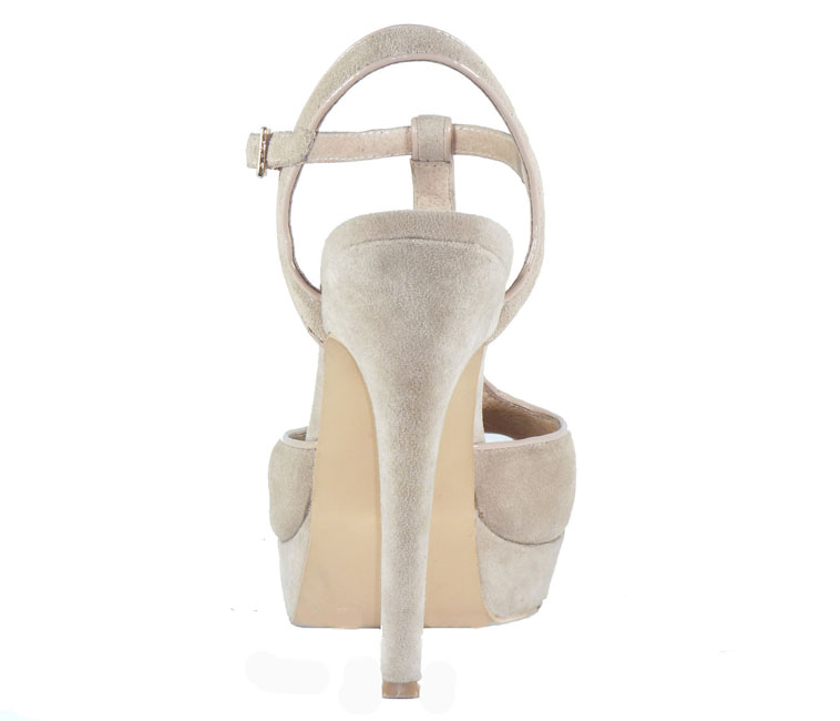 Carey Nude 100% Leather platform Heels- BRAND NEW IN BOX