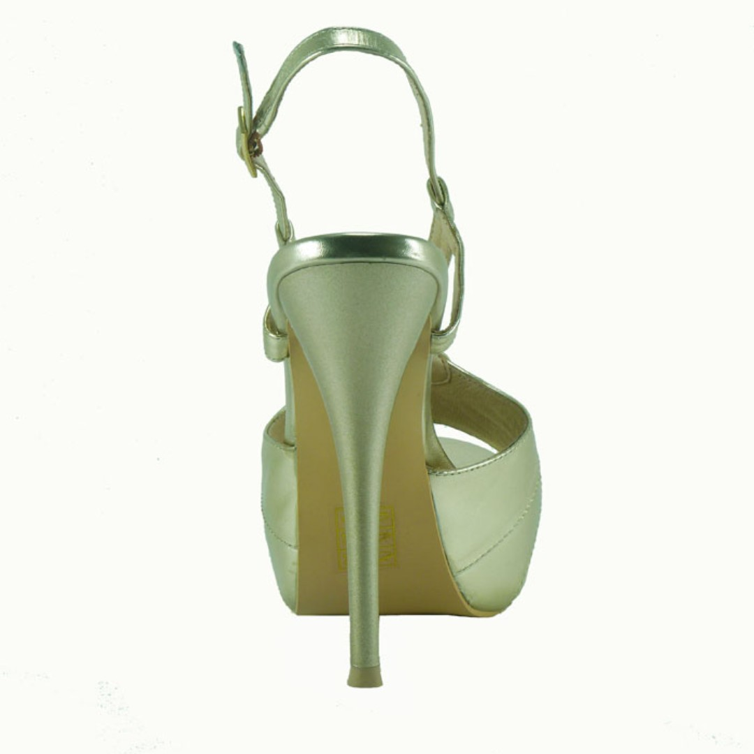 Chloe Gold  100% Leather platform heels - BRAND NEW IN BOX