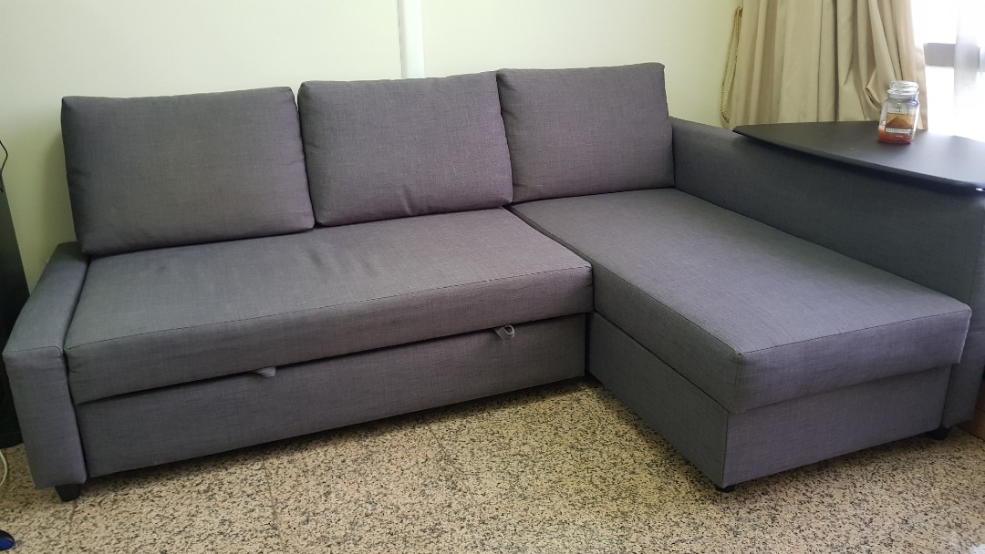 Ikea Friheten Corner Sofabed With Storage Expandable 9 10 Furniture Sofas On Carousell