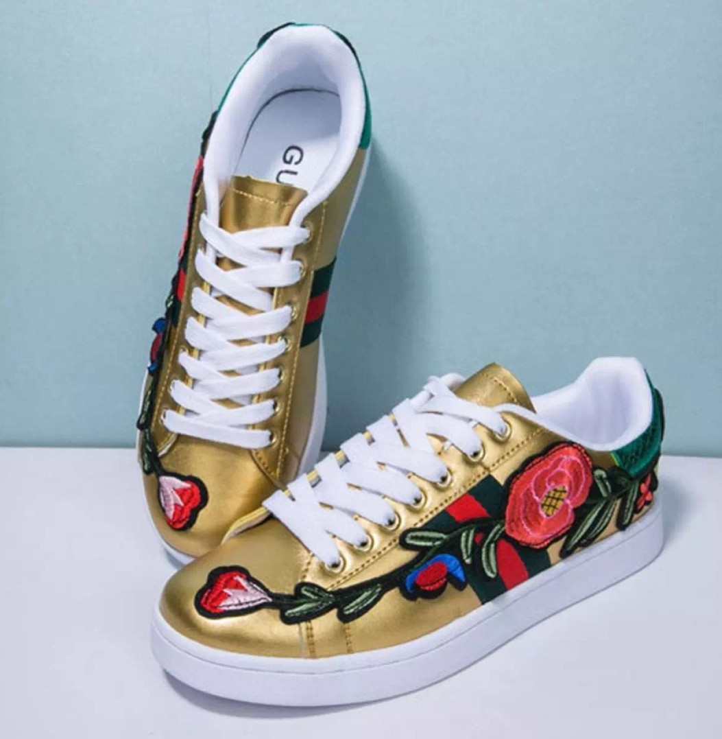 ded726c446a Floral Gold Coloured Shoes