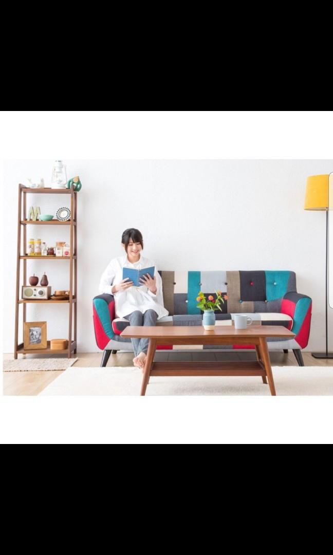 Free Delivery Japanese Sleek Design Checkered Sofa Furniture
