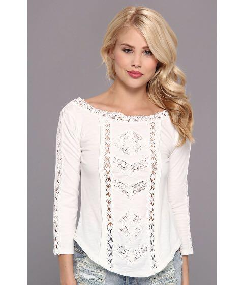 """Free People """"Truly Madly"""" crochet/lace top: size XS"""