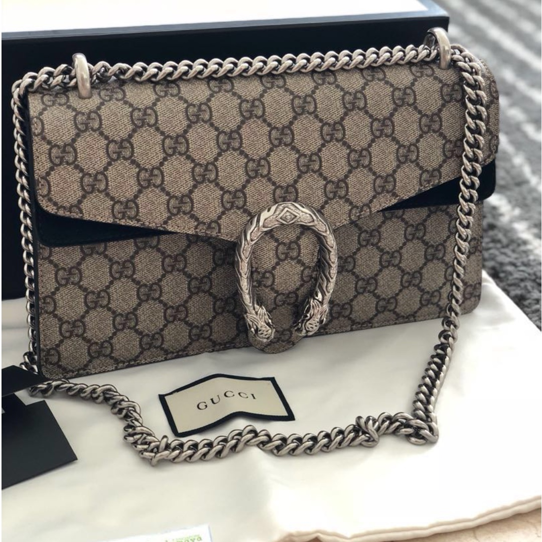 264f6b8f4ca Gucci Dionysus coated canvas and suede shoulder bag