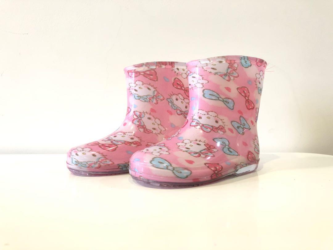 9ec87d5ce Hello Kitty Rain Boots 13cm from Japan, Babies & Kids, Girls ...