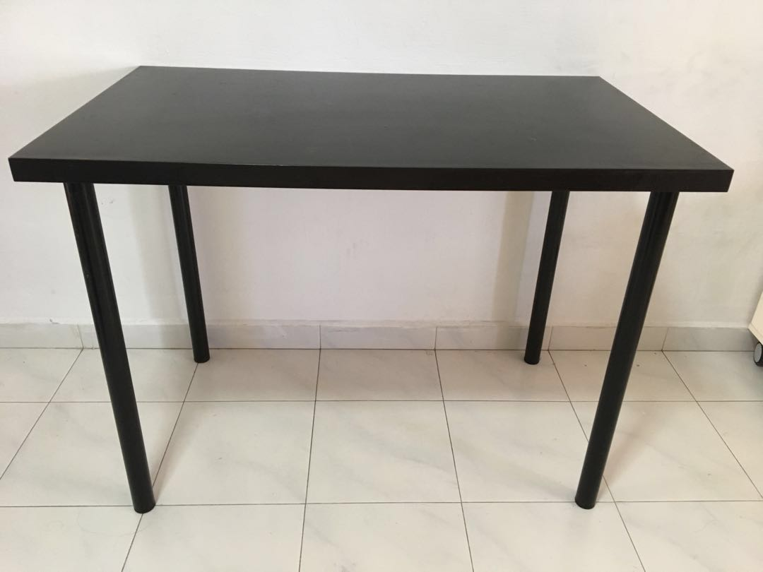 Ikea Linnmon Black Brown Desk Furniture Tables Chairs On Carousell