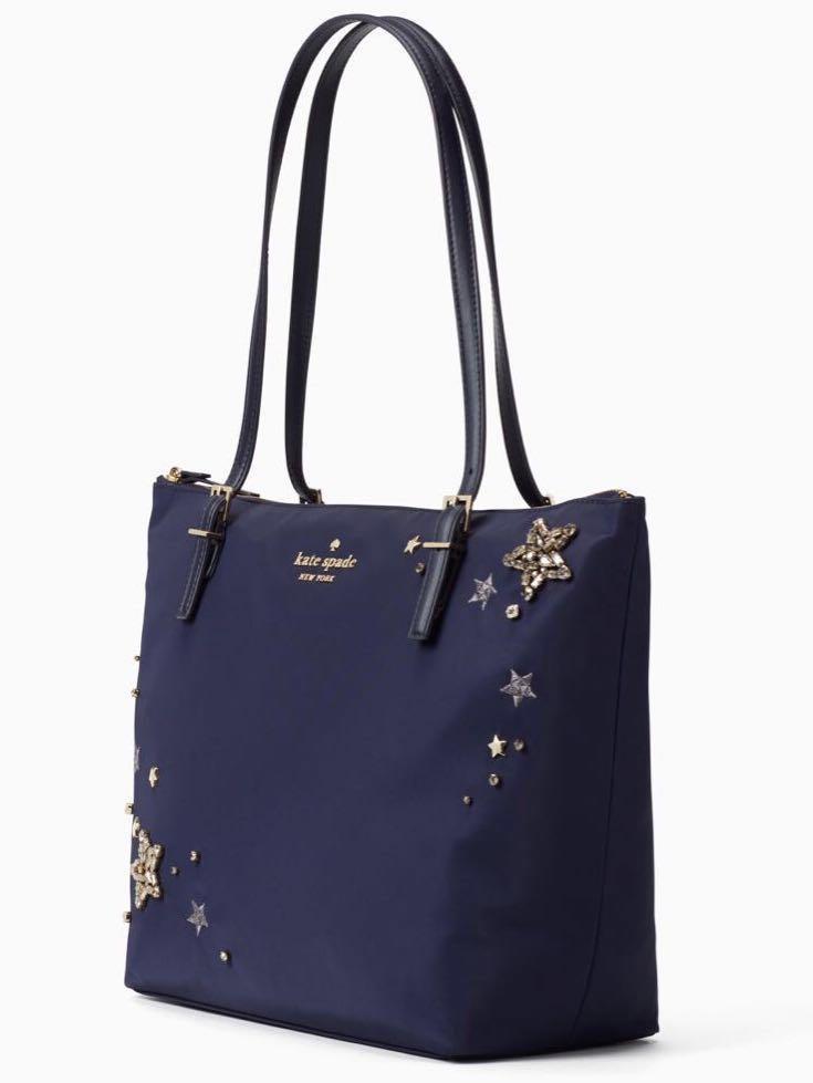 8cd8cf0a2 Kate spade Watson lane maya nylon stars embellished tote bag, Women's  Fashion, Bags & Wallets, Handbags on Carousell