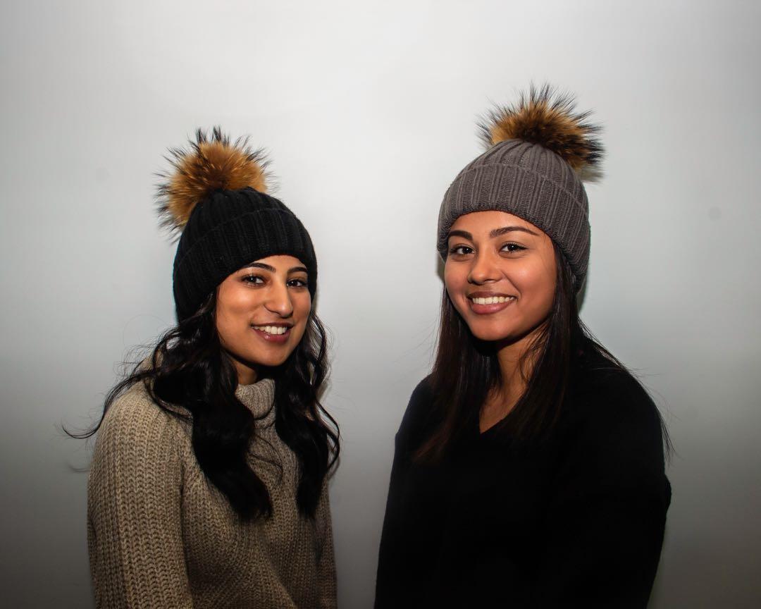 LAST FEW! canada goose/mackage/moncler-like real racoon fur pom pom hat