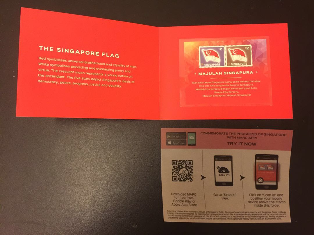 Limited edition special SG50 Collectors' Sheet