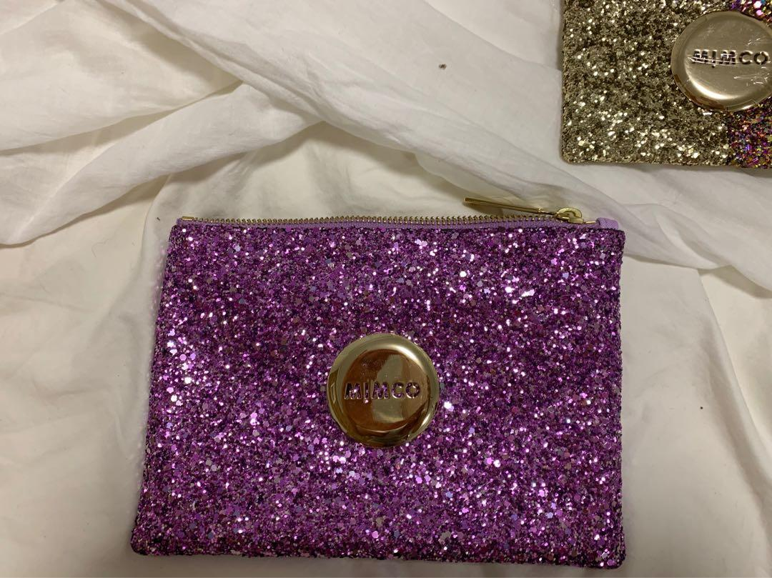 Mimco Purple Sparks Fly Pouch Medium