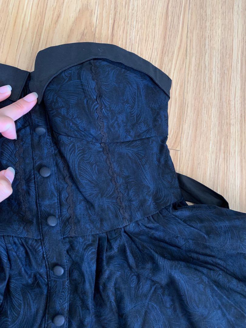 Navy and black dress