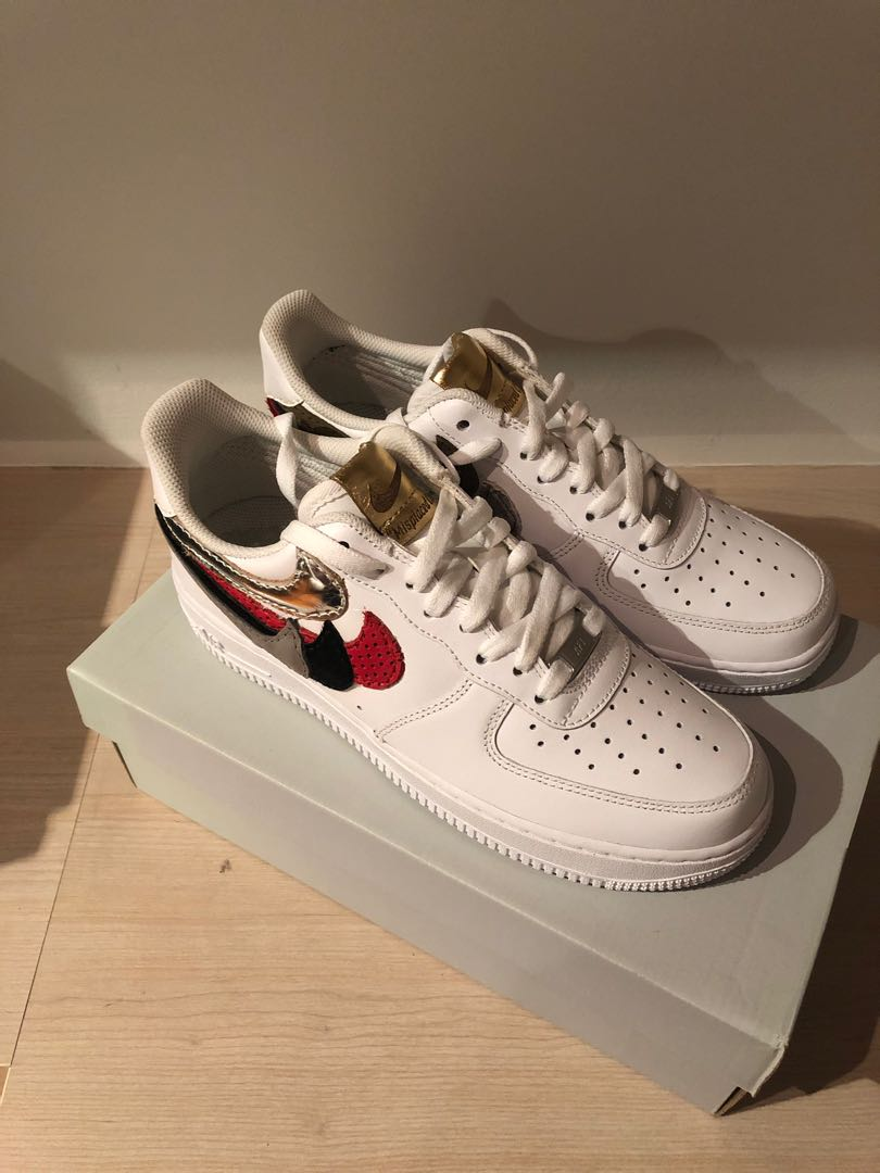 sports shoes 2444d 1f99a NIKE AIR FORCE 1 LOW JOHN GEIGER MISPLACED CHECKS, Men s Fashion ...