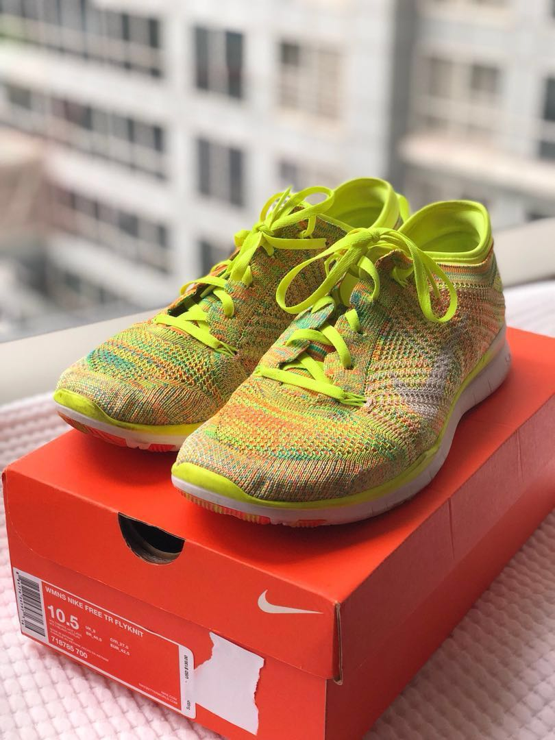 562fe558f04e Nike Free Trainer Flyknit Used with Box - 10.5 US Women size ...