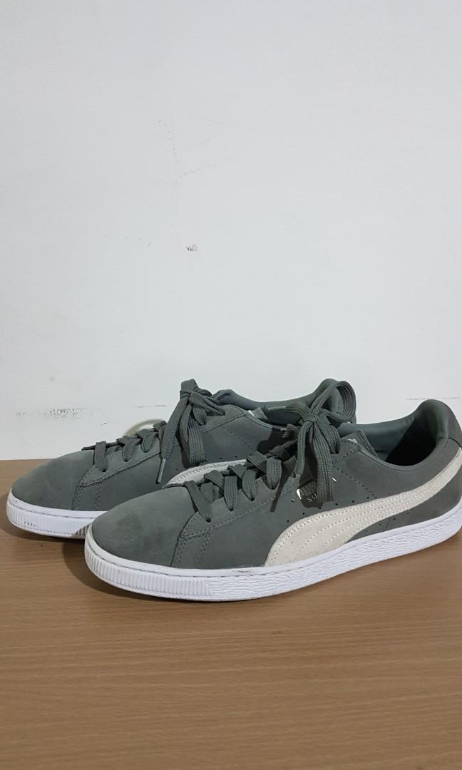 separation shoes 19f50 ef90b Puma Suede Agave Green/White Size 11 US on Carousell