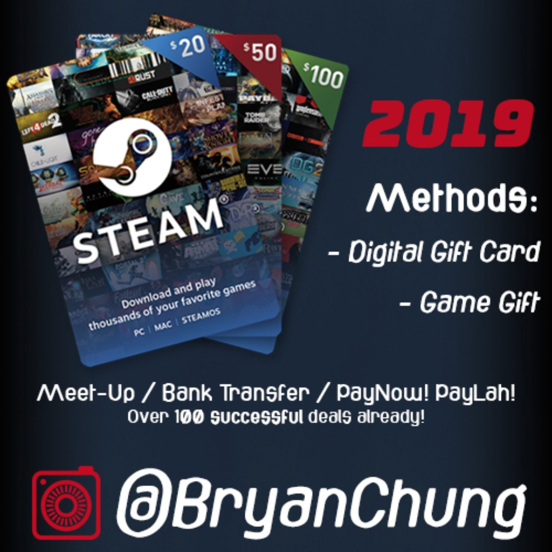 Steam Gift Card Top Up Wallet