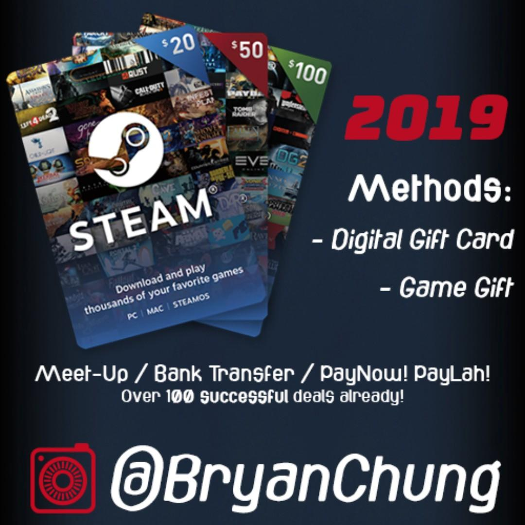 Steam Gift Card Top Up Wallet, Toys & Games, Video Gaming