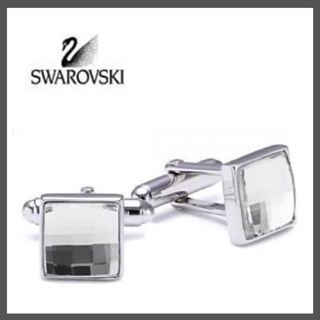 b2f41f3ec2 Swarovski Cufflinks #973790 Clear Multi-Faceted Cuff Links - Crystal ...
