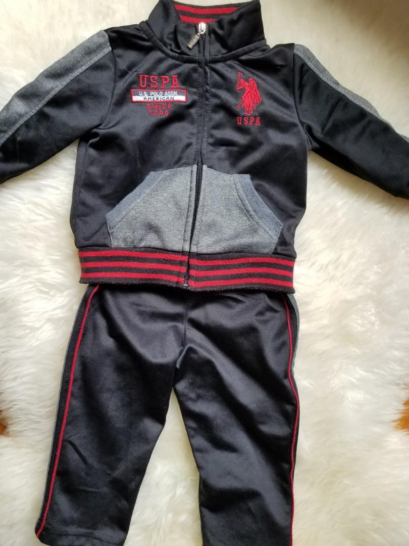 US Polo tracksuit. Size 18 mths. New condition. PU gerrard and main for $14 or Yorkville for $15. Take both top and bottom. Purchased for $59 for a sporting event.