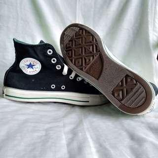 Convers CT high double tongue black and white